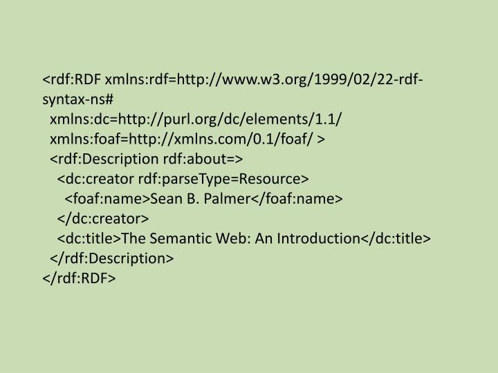 <rdf:RDF xmlns:rdf=http://www.w3.org/1999/02/22-rdf-syntax-ns#