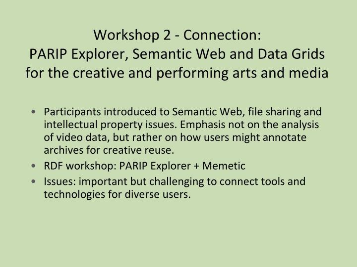 Workshop 2 - Connection: