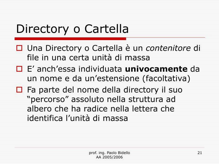 Directory o Cartella