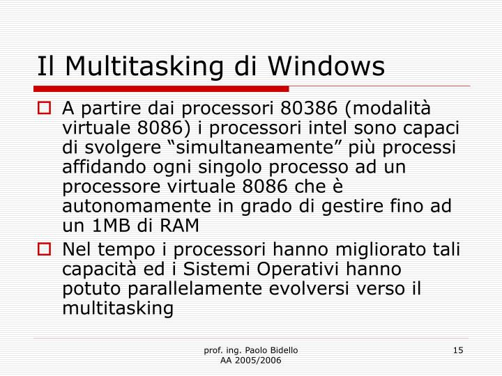 Il Multitasking di Windows