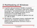 il multitasking di windows