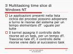 il multitasking time slice di windows nt