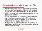 tabelle di associazione dei file