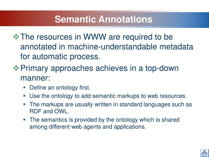 Semantic Annotations