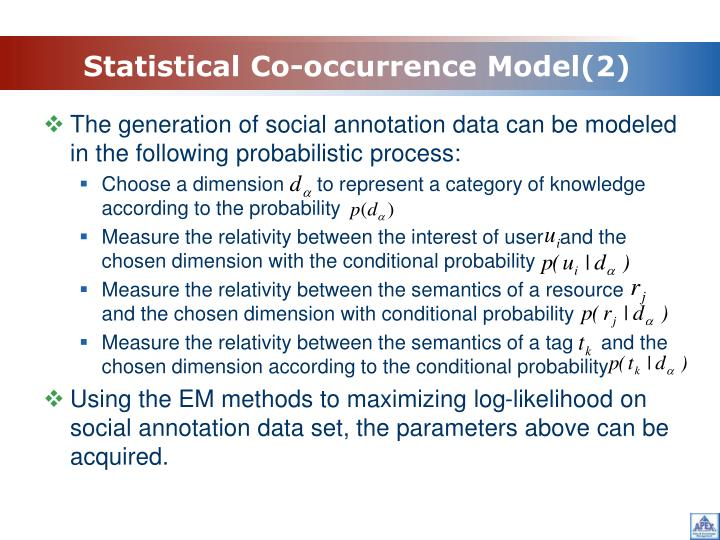 Statistical Co-occurrence Model(2)
