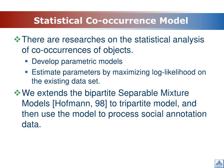 Statistical Co-occurrence Model