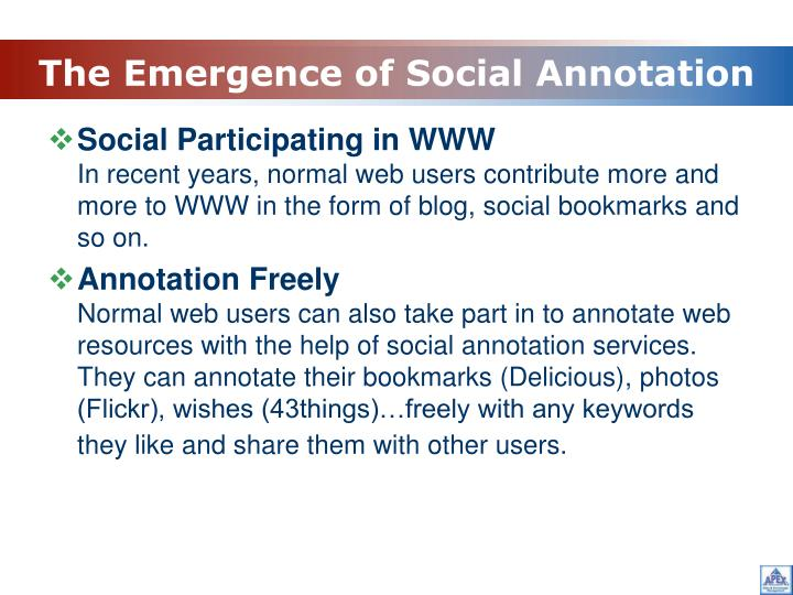The Emergence of Social Annotation