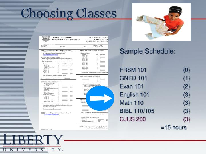 Sample Schedule: