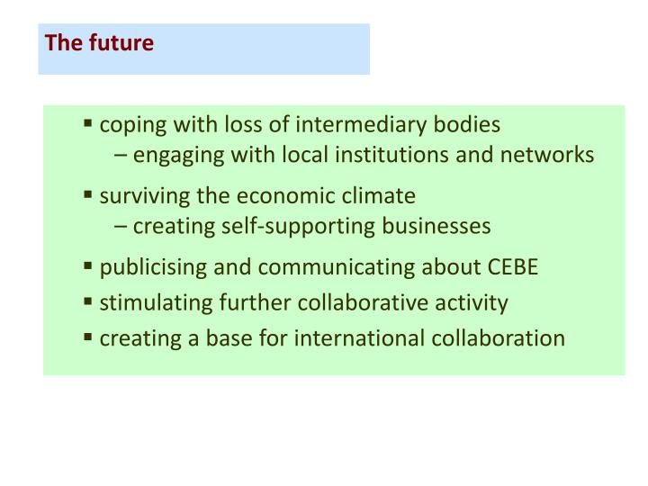 coping with loss of intermediary bodies