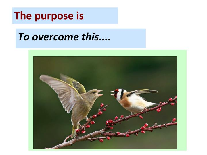 To overcome this....