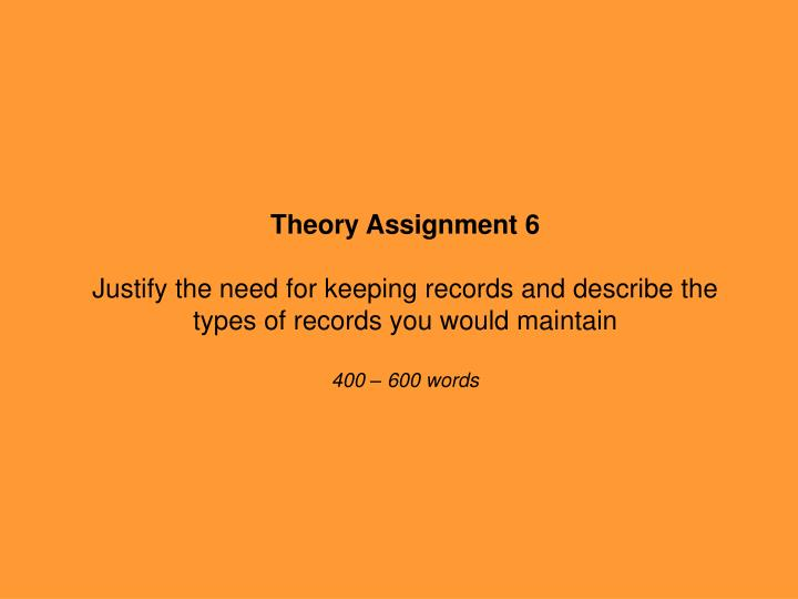 Theory Assignment 6