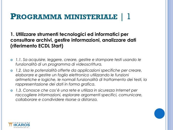 Programma ministeriale
