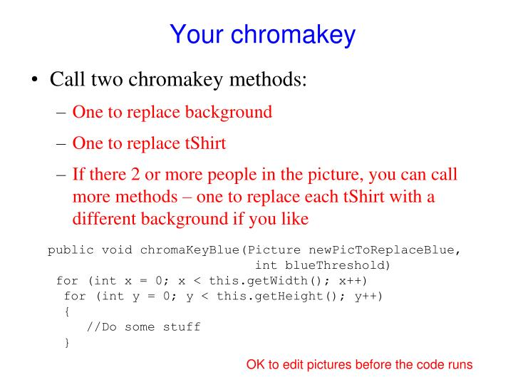 Your chromakey