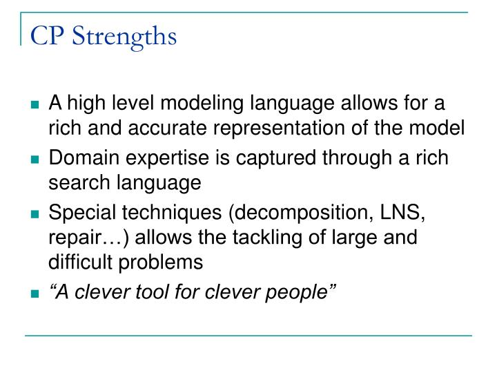 CP Strengths