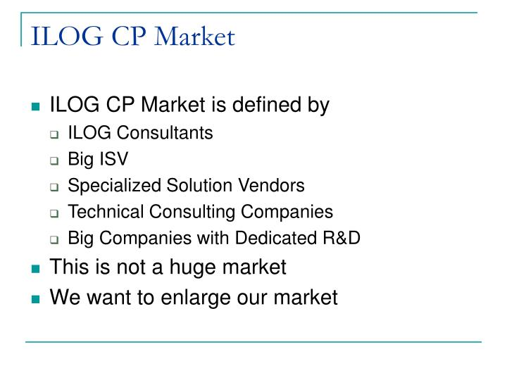 ILOG CP Market