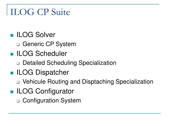 ILOG CP Suite
