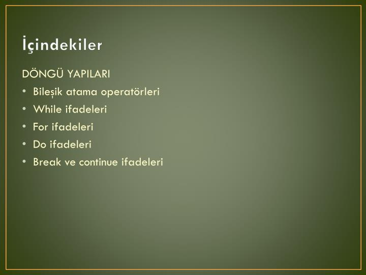 Indekiler