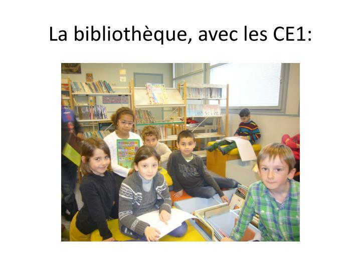 La bibliothèque, avec les CE1: