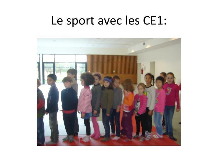 Le sport avec les CE1: