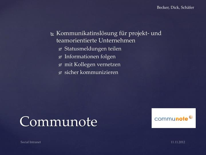 Kommunikatinslösung