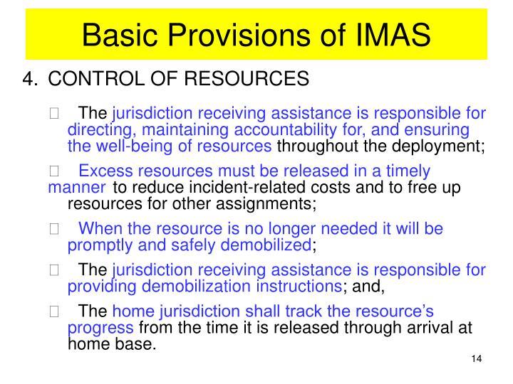 Basic Provisions of IMAS