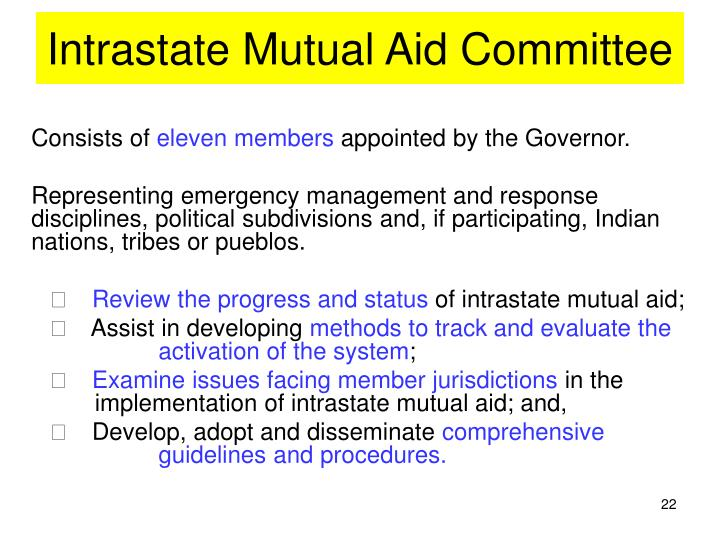 Intrastate Mutual Aid Committee