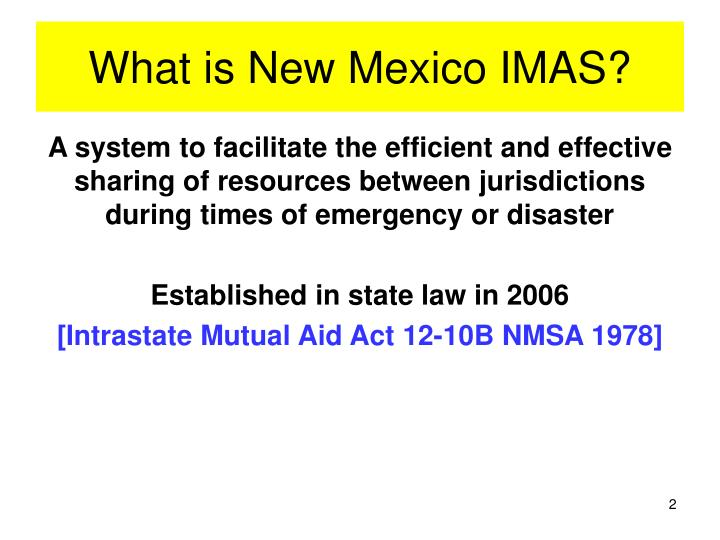 What is new mexico imas