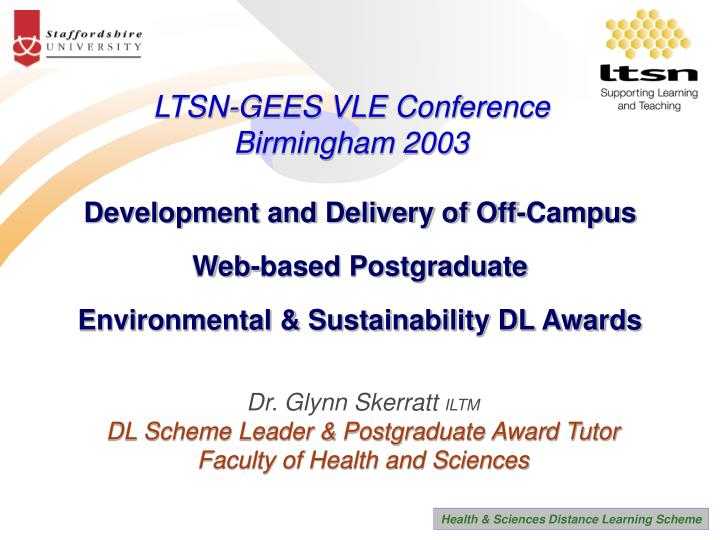 LTSN-GEES VLE Conference