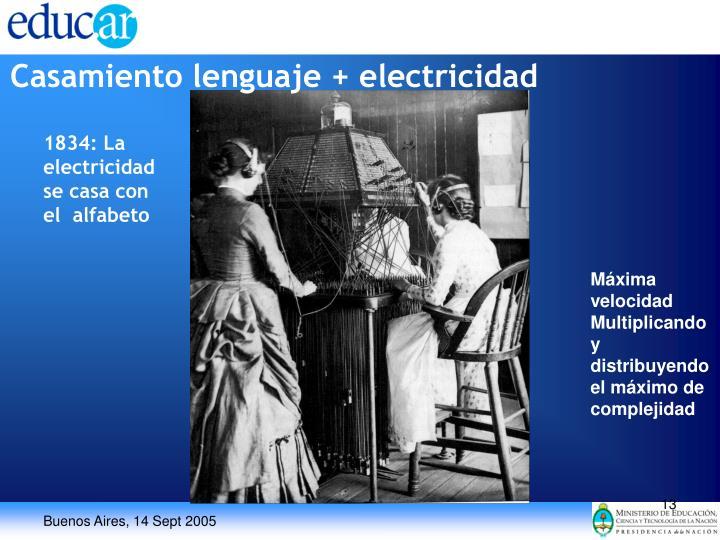 Casamiento lenguaje + electricidad
