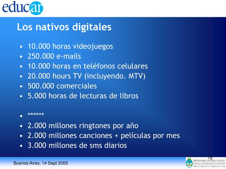 Los nativos digitales