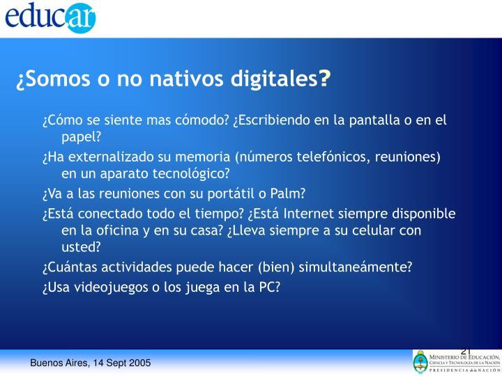 ¿Somos o no nativos digitales