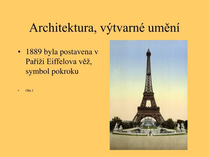 1889 byla postavena v Paříži Eiffelova věž, symbol pokroku