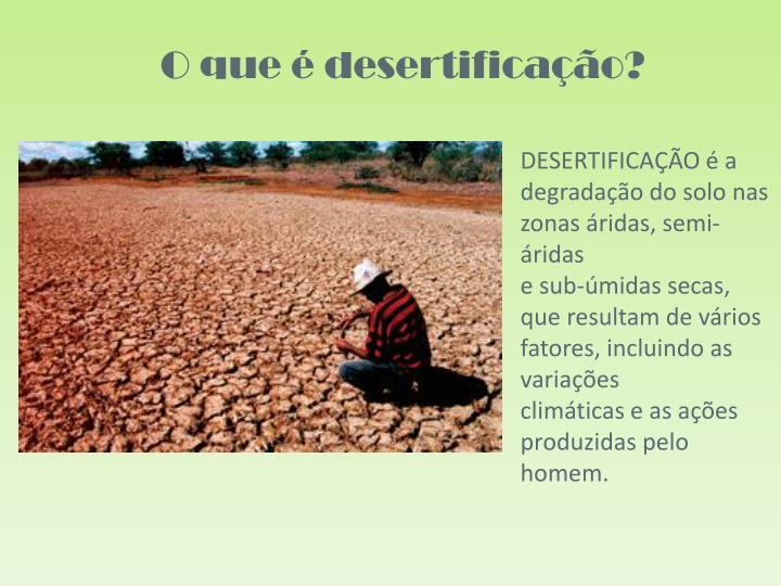 O que é desertificação?