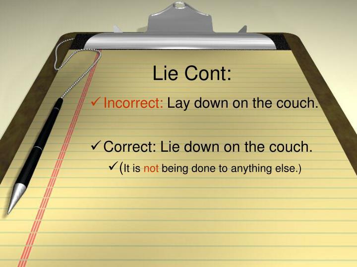 Lie Cont: