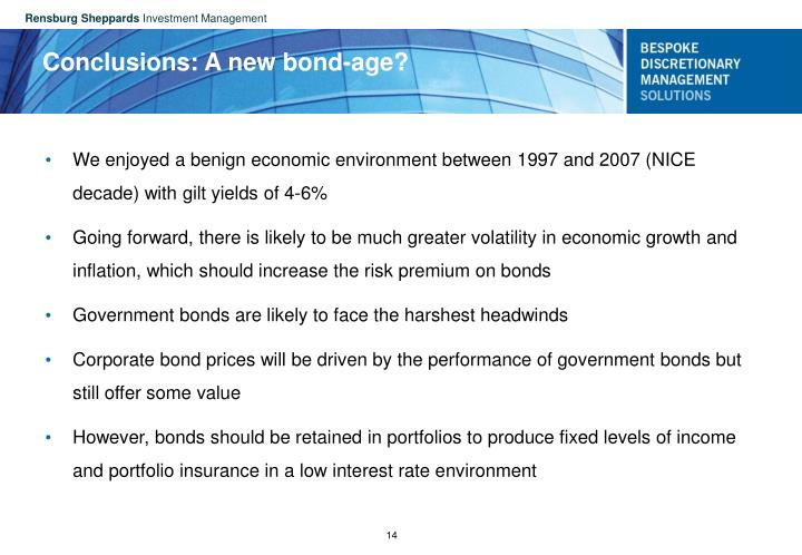 Conclusions: A new bond-age?