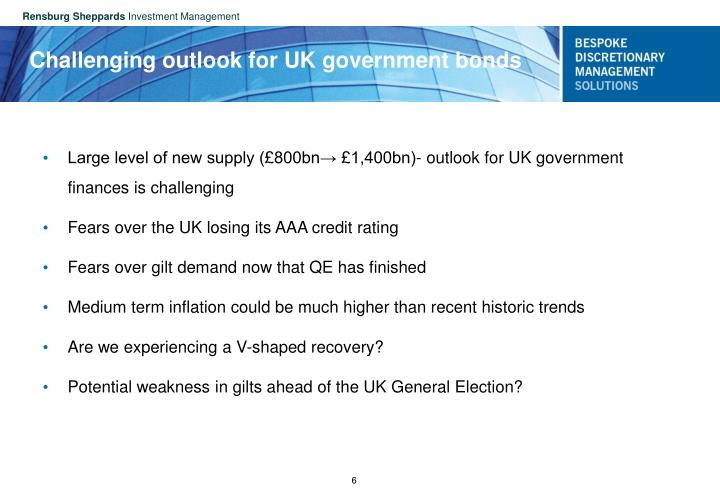 Challenging outlook for UK government bonds