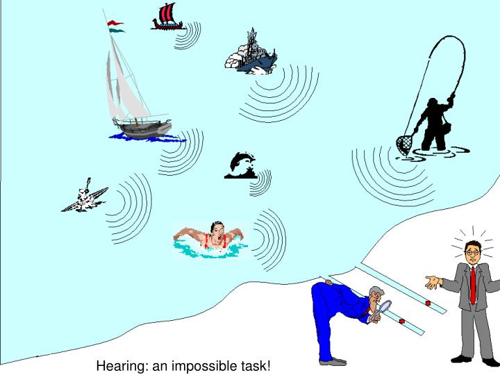 Hearing an impossible task