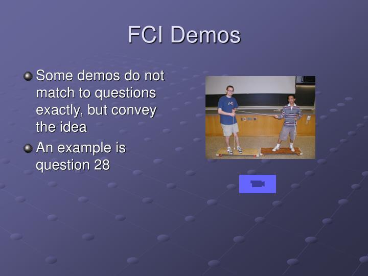 FCI Demos
