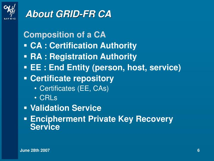 About GRID-FR CA