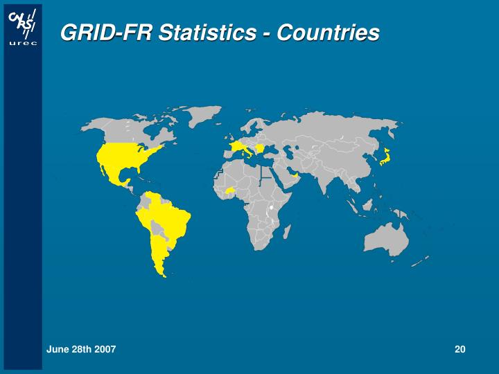 GRID-FR Statistics - Countries