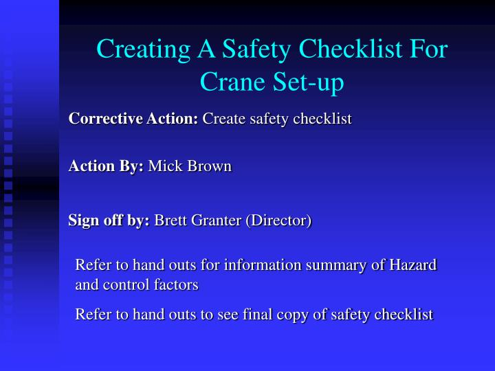 Creating A Safety Checklist For Crane Set-up