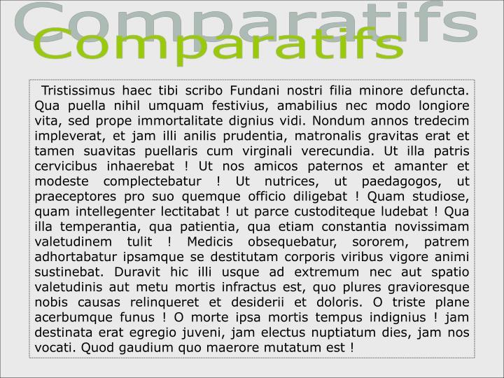 Comparatifs