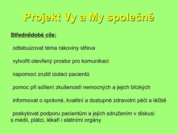 Projekt Vy a My společně