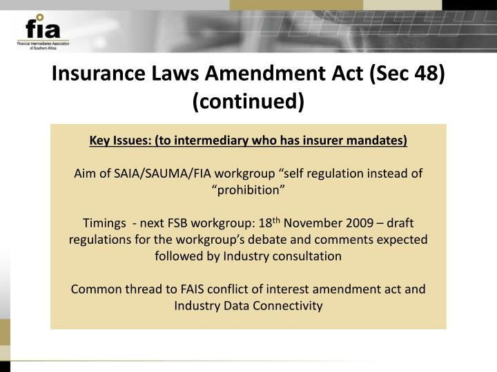 Insurance Laws Amendment Act (Sec 48)