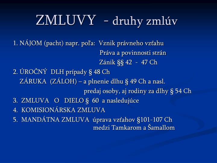 ZMLUVY  -