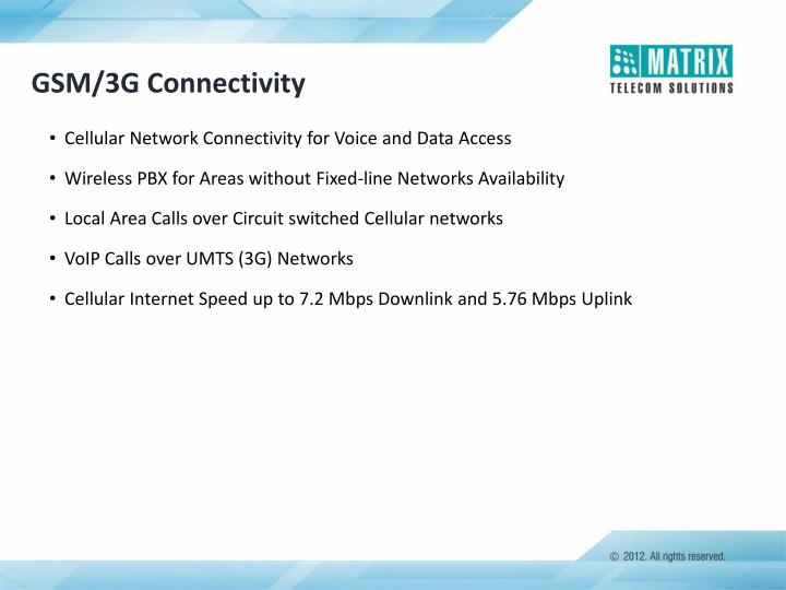 GSM/3G Connectivity