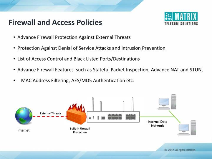 Firewall and Access Policies