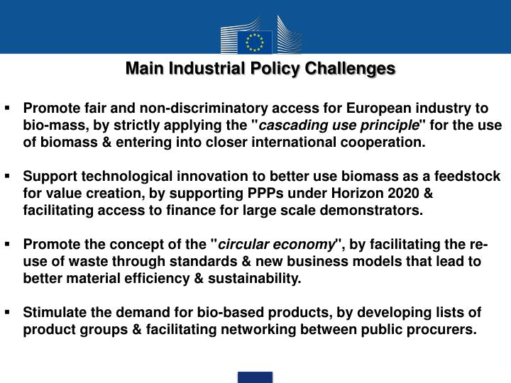 Main Industrial Policy Challenges