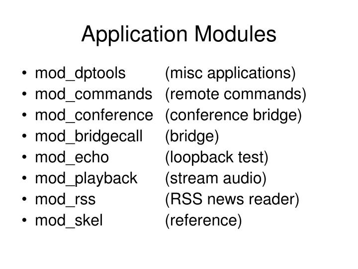 Application Modules