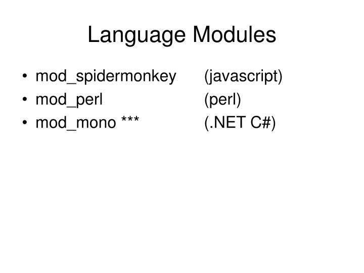 Language Modules